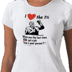 I love the 1 percent - shirt