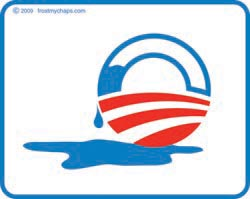 Distressed Obama Logo - sticker