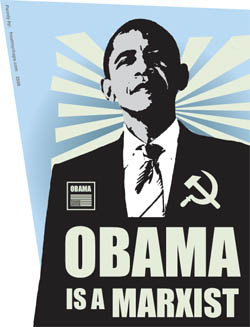 Obama is a Marxist - sticker