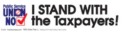 I Stand with the Taxpayers! - sticker