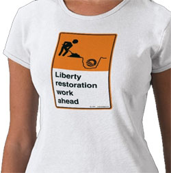 Liberty Restoration w/text - shirt